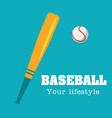 baseball your lifestyle baseball background vector image