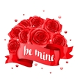 Be mine Happy Valentine day greeting card with vector image