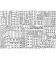 big city background texture skyscraper sketch vector image vector image