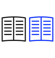 book glyph icon vector image
