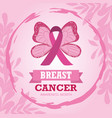 breast cancer october awareness month ribbon pink vector image vector image