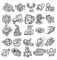 business business icon hand drawn icon design vector image vector image