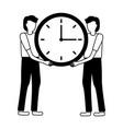 businessmen holding clock vector image vector image