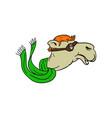 camel wearing goggles mascot vector image
