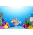 Cartoon Scorpion fish with beautiful underwater vector image vector image