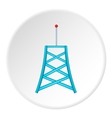 Cell phone tower icon cartoon style vector image