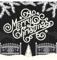 Christmas vintage chalk text label on a blackboard vector image