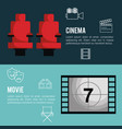 cinema entertainment flat icons