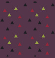 color triangles seamless pattern vector image