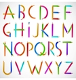 Colorful alphabet of pencils vector image