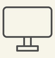 computer monitor line icon pc screen vector image vector image