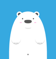 cute big white polar bear vector image vector image