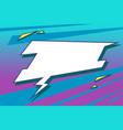 cyberpunk comic balloon 80s style vector image vector image
