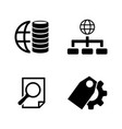 database simple related icons vector image vector image
