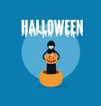 death holding pumpkin basket full candies vector image