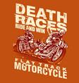death race vector image