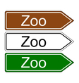 Direction sign zoo vector image vector image