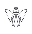 easter angel line icon concept easter angel vector image vector image