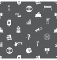 election simple icons seamless gray pattern eps10 vector image vector image
