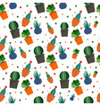 exotic cacti pattern flat style vector image