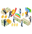 financial banking credits isometric vector image vector image