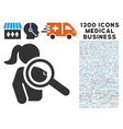 find prostitute icon with 1300 medical business vector image vector image