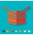 Flat design drum vector image