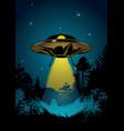 flying ufo vector image vector image