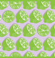 fruit seamless pattern lime halves and slices vector image vector image