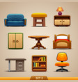 furniture icons-set 2 vector image vector image