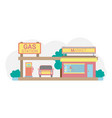 gas station in pastel colors vector image