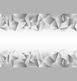 gray white polygonal background creative design vector image vector image