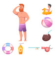 isolated object of pool and swimming symbol vector image vector image