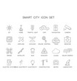 line icons set smart city pack vector image vector image