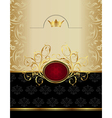 luxury gold label with emblem vector image vector image