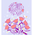 Mothers Day greeting card vector image vector image
