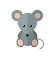 Mouse in flat style vector image vector image
