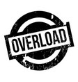 overload rubber stamp vector image vector image