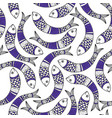 pattern with fishes in indian traditional gong vector image vector image