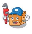plumber caramel candies mascot cartoon vector image vector image
