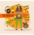 Rastafarian Character Pack For Man vector image