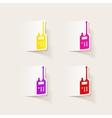 realistic design element police radio vector image