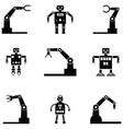 robot icon set vector image vector image