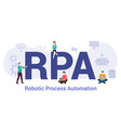 rpa robotic process automation concept with big vector image vector image