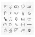 School set of icons vector image
