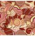 Seamless kawaii child pattern with candy cute vector image vector image