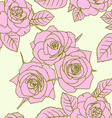 seamless wallpaper with rose flowers vector image vector image