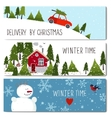 set 3 lovely winter cards templates vector image
