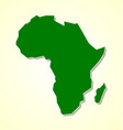 simple not detailed shape africa continent vector image