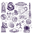 Space sketch set vector image vector image